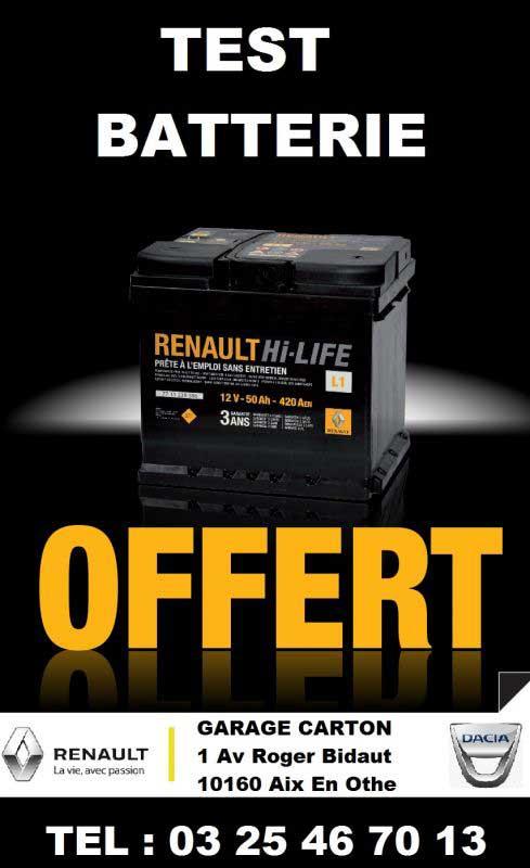 Test batterie offert